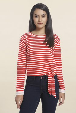 Only Red & White Striped Top