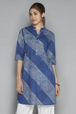 Utsa by Westside Indigo Striped Kurta