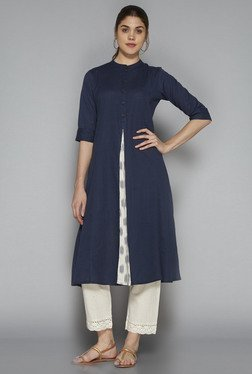 Utsa by Westside Indigo Solid Kurta