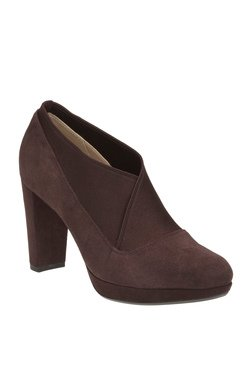 59fc4c492cc7 Clarks Kendra Mix Aubergine Casual Shoes