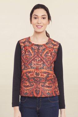 Global Colours Orange Printed Jacket