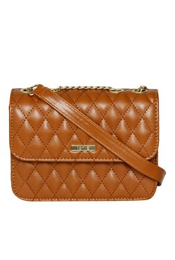 Toniq Tan Quilted Sling Bag