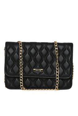 Toniq Parisian Black Quilted Sling Bag