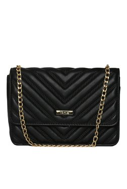 Toniq Arrow Black Quilted Sling Bag