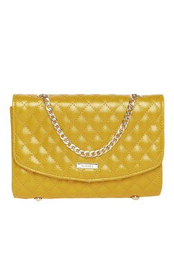 Toniq Mustard Quilted Sling Bag
