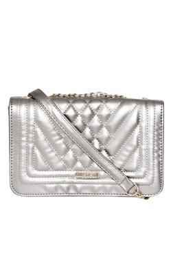Toniq Silver Quilted Sling Bag