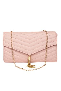 Toniq Rosy Princess Pink Quilted Envelope Clutch