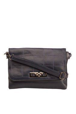 Vero Couture Navy Twist Lock Sling Bag