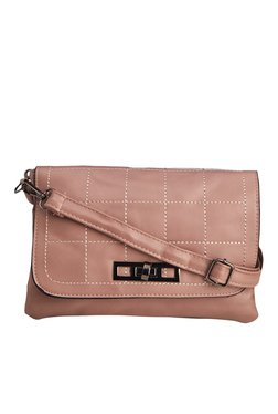 Vero Couture Pastel Pink Twist Lock Sling Bag