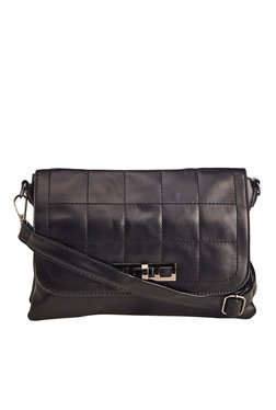 Vero Couture Black Twist Lock Sling Bag