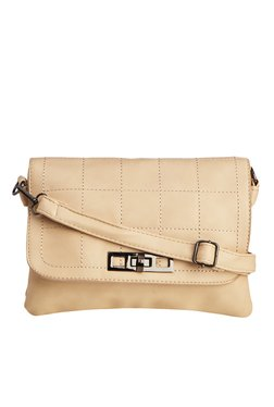 Vero Couture Cream Twist Lock Sling Bag