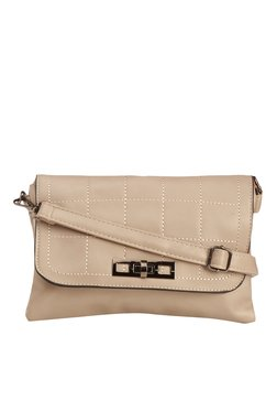 Vero Couture Light Grey Twist Lock Sling Bag