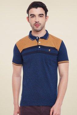 Duke Dark Blue & Brown Short Sleeves Polo T-Shirt