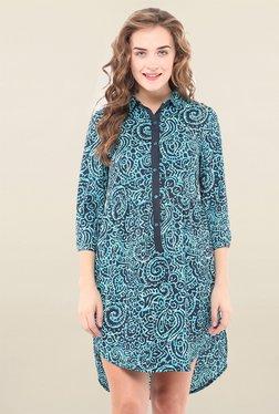 Pryma Donna Blue Printed Dress