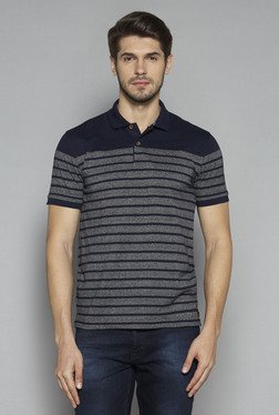 Westsport by Westside Indigo Slim Fit Polo T Shirt