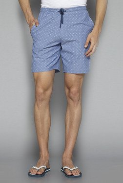 Bodybasics By Westside Sky Blue Regular Fit Shorts
