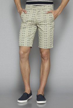 Westsport by Westside Beige Slim Fit Shorts
