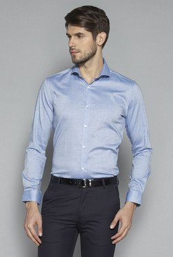 Weststreet by Westside Blue Slim Fit Shirt