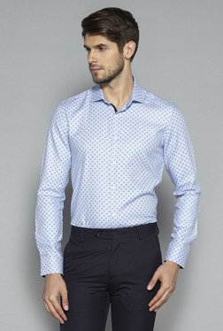 Weststreet by Westside Blue Tailored Fit Shirt