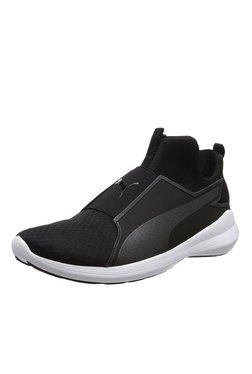 Puma Rebel Mid Black Sneakers
