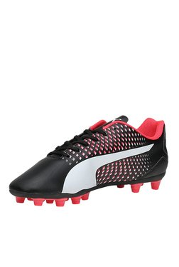 Puma Adreno III AG Black & Red Football Shoes