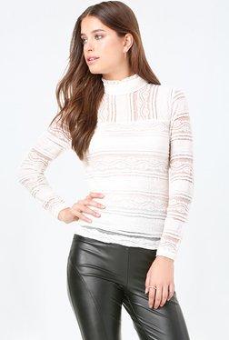 Bebe White Lace Top