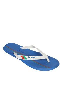 Rider R1 World Cup AD White & Blue Flip Flops
