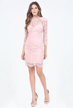 Bebe Pink Lace Dress