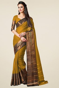 Ishin Mustard Zari Saree With Blouse