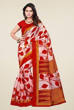Ishin Multicolor Printed Bhagalpuri Art Silk Saree