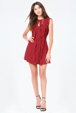 Bebe Maroon Lace Dress
