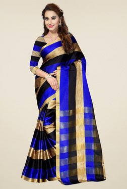 Ishin Blue & Black Zari Saree