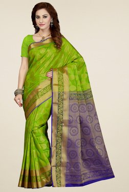 Ishin Teal Green Saree With Blouse