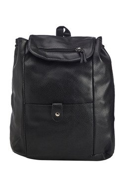 Vero Couture Black Backpack With Adjustable Strap
