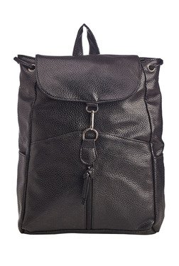 Vero Couture Black Zippered Clasp Backpack