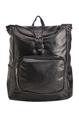 Vero Couture Black Snap Backpack - Mp000000001236650