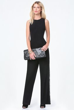 bebe Black Solid Jumpsuit