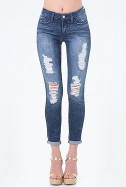 bebe Dark Blue Skinny Fit Jeans