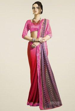 Saree Mall Pink & Red Printed Saree