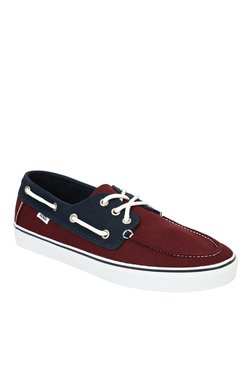Vans Chauffeur SF Maroon   Navy Boat Shoes 35a6719c5