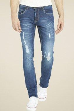Globus Blue Regular Fit Mid Rise Jeans