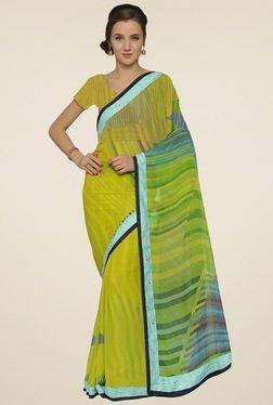 Saree Mall Yellow Printed Saree With Blouse