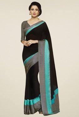 Saree Mall Black & Blue Printed Saree