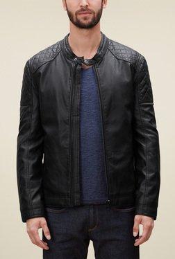 S.Oliver Black Straight Fit Biker Jacket