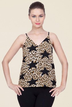 StyleStone Brown Animal Print Top