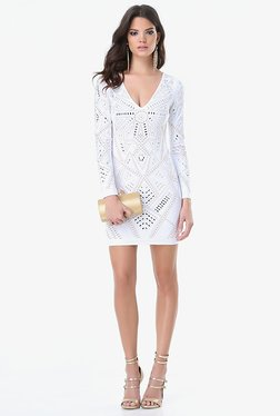 Bebe Off White Lace Dress