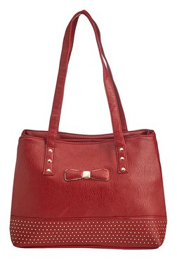Vero Couture Red Riveted Shoulder Bag