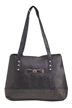 Vero Couture Black Riveted Shoulder Bag