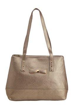 Vero Couture Metallic Riveted Shoulder Bag