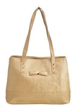 Vero Couture Golden Riveted Shoulder Bag
